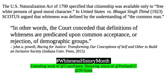 Whiteness History Month #4.1