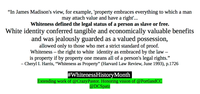 Notes for Whiteness History Month